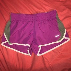 purple nike shorts